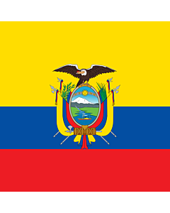 Fahne: Flagge: National Standard of Ecuador