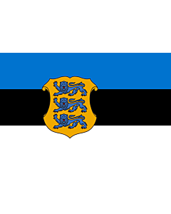 Fahne: Flagge: Estonia - Minister of Defence | Estonian Minister of Defence | Kaitseministri lipp