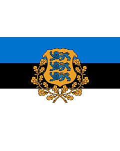 Fahne: Flagge: President of Estonia