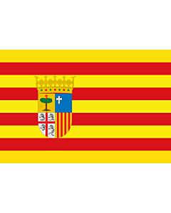 Fahne: Flagge: Aragon