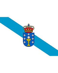 Fahne: Flagge: Galicia
