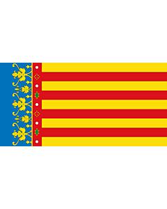 Fahne: Flagge: ValencianCommunity