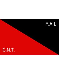Fahne: Flagge: CNT-FAI | Rossonera utilizzata dalla CNT-FAI  confederaciòn nacionàl de los trabajadores - federaciòn anarquista iberica