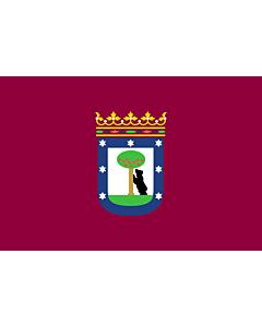 Fahne: Flagge: Madrid