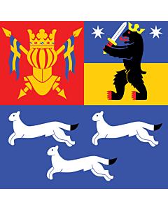 Fahne: Flagge: West Finnland