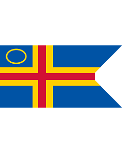 Fahne: Flagge: Åland Yachting Clubs | This image shows a flag
