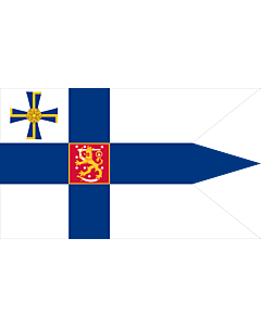 Fahne: Flagge: Presidential Standard of Finland | Swallow-tailed state flag for the president of the Republic of Finland | Presidenta Finské republiky