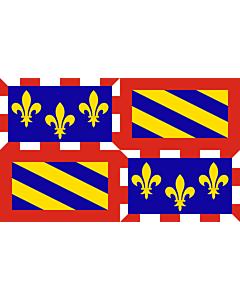 Fahne: Flagge: Burgund