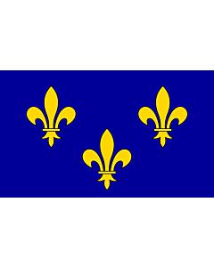 Fahne: Flagge: Île-de-France