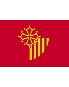 Fahne: Flagge: Languedoc-Roussillon
