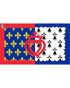 Fahne: Flagge: Pays de la Loire