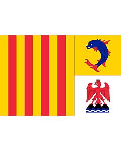 Fahne: Flagge: Provence-Alpes-Côte d'Azur
