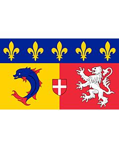 Fahne: Flagge: Rhône-Alpes