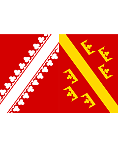 Fahne: Flagge: Elsässische