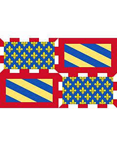 Fahne: Flagge: Ancient Flag of Burgundy | Ancien de la Bourgogne