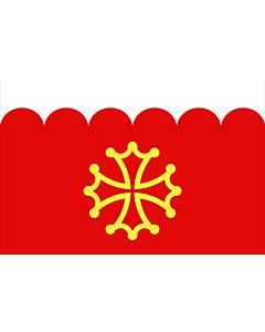 Fahne: Flagge: Fr département Gard | Gard | Département du Gard
