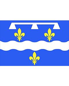 Fahne: Flagge: Fr département Loiret | Loiret | Département du Loiret