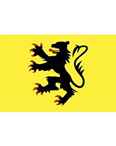 Fahne: Flagge: Fr département Nord | Representing the  Lion of Flanders | Représentant le  Lion des Flandres | Que representa el  León de Flandes