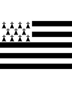 Fahne: Flagge: Brittany  Gwenn ha du