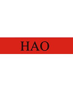 Fahne: Flagge: Hao