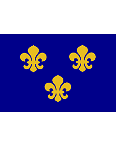 Fahne: Flagge: Medieval France | Present day s Île-de-France In 1328, the coat-of-arms of the House of Valois was blue with gold fleurs-de-lis bordered in red