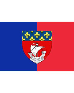 Fahne: Flagge: Paris with shield | Vectorized image of the FOTW site flag of Paris