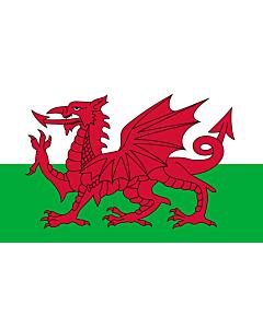 Fahne: Flagge: Wales