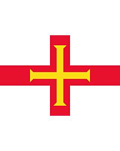 Fahne: Flagge: Guernsey (Kanalinsel)
