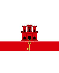 Fahne: Flagge: Gibraltar
