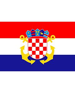 Fahne: Flagge: Naval Ensign of Croatia