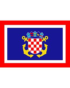 Fahne: Flagge: Naval Jack of Croatia