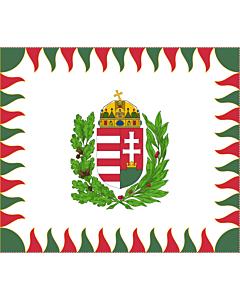 Fahne: Flagge: War Flag of Hungary | Colour for brigades | Oficiala milita armea flago de Hungario | 1990 M