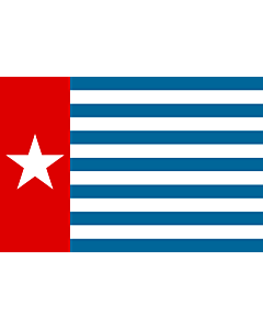 Fahne: Flagge: Morning Star | Unofficial Morning Star flag | Morgenster, Vlag van Westelijk Nieuw-Guinea | Indonesia, Bendera Papua Barat | Флаг утренней звезды