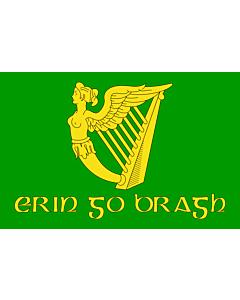 Fahne: Flagge: Erin Go Bragh | Irish nationalist flag   version of Image Erin Go Bragh flag