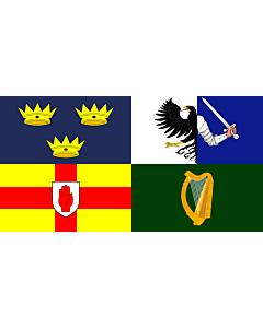 Fahne: Flagge: Four Provinces Ireland