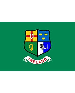 Fahne: Flagge: Ireland hockey team | Field hockey team of Ireland  Four Provinces coat of arms -- Ulster