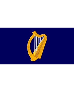 Fahne: Flagge: President of Ireland | Presidential Flag of Ireland with alternate official state harp design