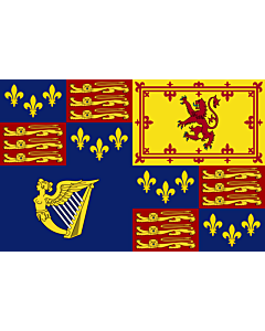 Fahne: Flagge: Royal Standard of Great Britain  1603-1649 | Royal Standard of Great Britain  1603-1649, 1660-1689, 1702-1707