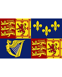 Fahne: Flagge: Royal Standard of Great Britain  1707-1714 | Royal Standard of Great Britain between 1707 to 1714