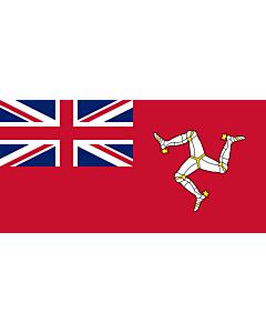 Fahne: Flagge: Civil Ensign of the Isle of Man | Civil ensign of the Isle of Man | Civil de la Isla de Man | Corrillagh brattagh Ellan Vannin