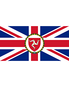 Fahne: Flagge: Lieutenant Governor of the Isle of Man | This flag was originally uploaded as w en Image Flag of the Governor of the Isle of Man