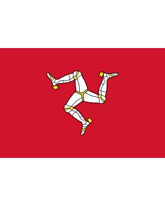 Fahne: Flagge: Insel Man