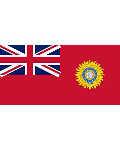 Fahne: Flagge: British Raj Red Ensign
