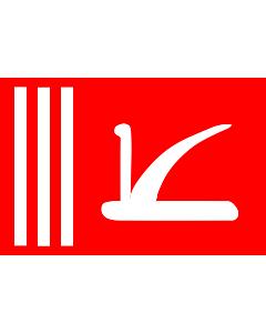 Fahne: Flagge: Bundesstaates Jammu und Kashmir