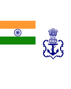 Fahne: Flagge: Naval Ensign of India 2001 04