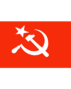 Fahne: Flagge: SUCI | Official flag of the Socialist Unity Centre of India as per its constitution