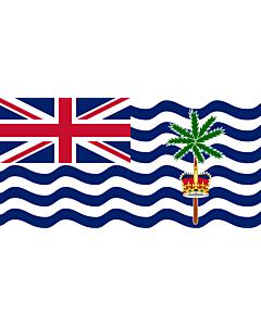 Fahne: Flagge: Britisches Territorium im Indischen Ozean