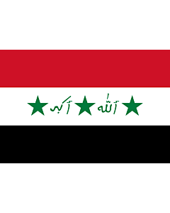 Fahne: Flagge: Iraq 1991-2004