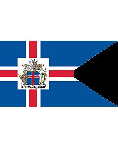 Fahne: Flagge: Presidential Standard of Iceland | Icelandic Presidential