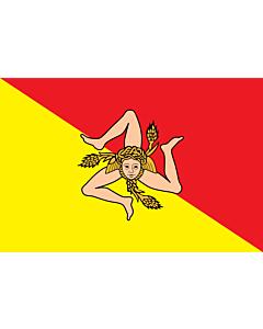 Fahne: Flagge: Sizilien